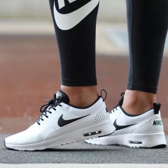 b74d913b8e157 Women s Nike Air Max Thea White + Black Sneakers